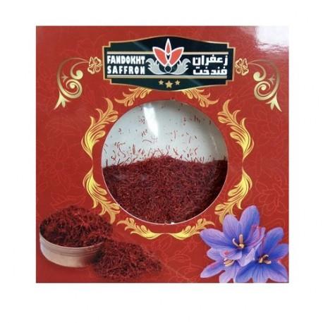 دو مثقال پودر زعفران فندخت در بسته بندی کارتی (9.2 گرم)