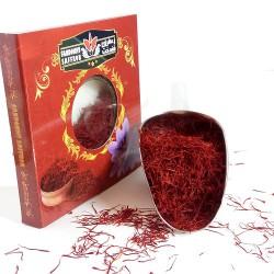 یک مثقال سرگل زعفران فندخت در بسته بندی کارتی (4.6 گرم زعفران سرگل)