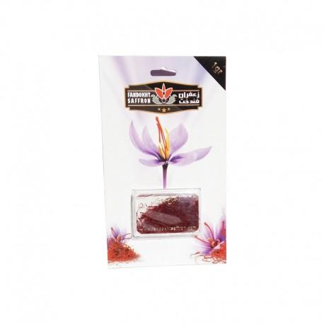 پودر یک گرمی زعفران  فندخت در بسته بندی کارتی (1 گرم پودر زعفران )
