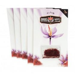 پک 5 عددی پودر زعفران یک گرمی در بسته بندی کارتی (5 گرم پودر زعفران فندخت)